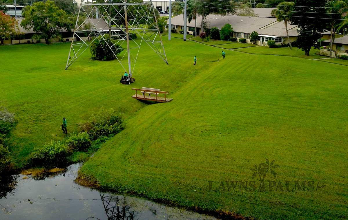 Condo Landscaping Company Drone Image