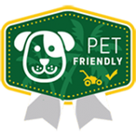Pet friendly lawn care icon